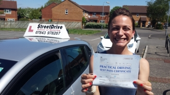A huge thank you to Roger from StreetDrive for getting me through my driving test 1st time <br />