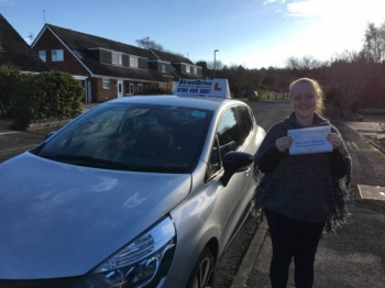 "Beep, Beep, delighted for ""Amy Beck' who passed the new ""SatNav"" driving test today at Poole DTC, ""1st Attempt"", only ""FOUR"" driving faults, fantastic news.<br />