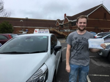 "Delighted for ""Brett Charlton' who passed the new ""SatNav"" driving test today at Poole DTC, fantastic news.<br />