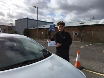 Delighted for Brodie Marquer who passed his driving test today at Poole DTC 1st Attempt and just SEVEN minor faults fantastic news<br />
