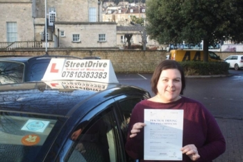 "Congratulations to ""Carina Tanner"" who passed her test today at Chippenham DTC, just ""THREE"" driving faults, fantastic effort, very well done.<br />