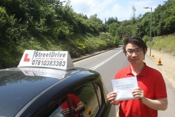 Well done to Donald Chan who passed his driving test today 1st attempt with only TWOdriving faults <br />