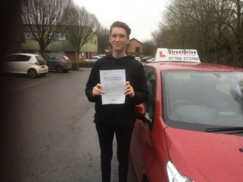 Delighted for James Mayger who passed his driving test today at Chippenham DTC and 1st Attempt fantastic news<br />