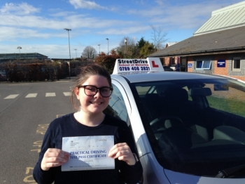 Congratulations to Jemma Parker who passed her driving test