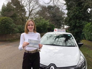 "Beep, beep, congratulations to ""Jenny Hill' who passed her driving test this morning at Poole DTC, and at the ""1st attempt"", we are ALL delighted for you.<br />