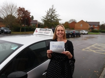 "Congratulations to 'Jenny Sweetman' who passed her driving test today at Trowbridge DTC, just ""FOUR"" Driving faults, fantastic news.<br />
