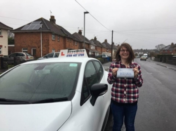 "We are delighted for ""Kerrie Knights' who passed the new ""SatNav"" driving test today at Poole DTC, fantastic news.<br />