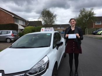 Delighted for Natasha Drane who passed her driving test yesterday at Poole DTC 1st Attempt - just THREE driving faults<br />