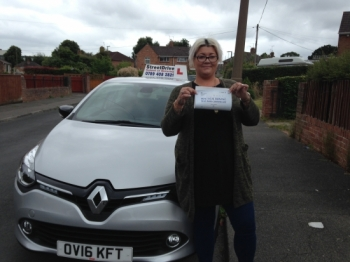 Congratulations to Rochelle Dulson who passed her driving test