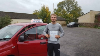 "Congratulations to ""Sam Christford' for passing his driving test at Chippenham DTC, was his '1st Attempt' just the 'ONE' driving fault, very well done.<br />