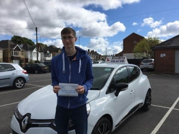 Delighted for Tobias Lisbakken who passed his driving test today at Poole DTC 1st Attempt - just THREE driving faults<br />